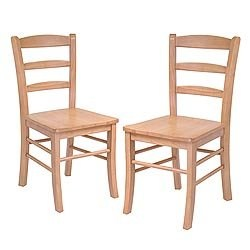 Ladder Back Wood Dining Chairs (Set of 2) Image