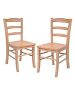Ladder Back Wood Dining Chairs