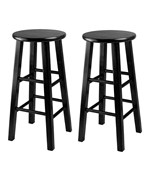 Set of 2 Obsidian Bar Stools by Winsome
