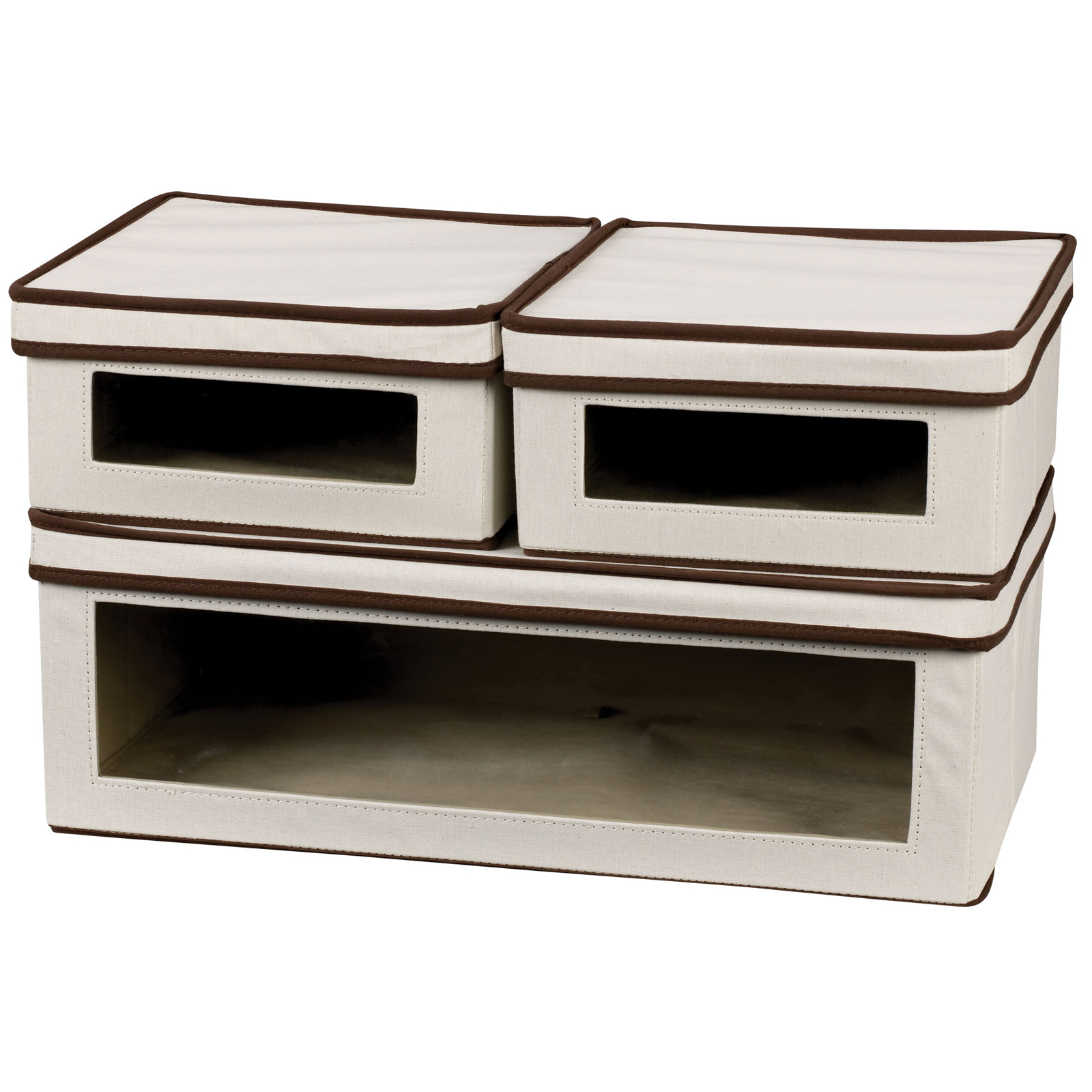 ... Set Of 3 Vision Shoe Storage Boxes ...