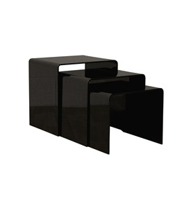 Set Of Three Black Acrylic Nesting End Tables by Wholesale Interiors Inc Image