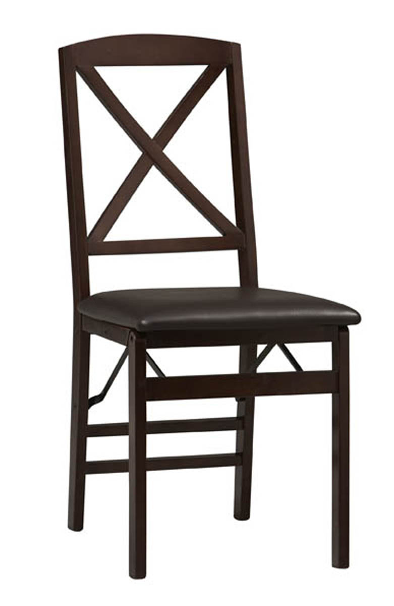 Set Of Two Triena X Back Folding Chairs By Linon In Dining