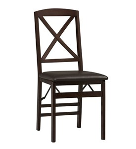 Set of Two Triena X Back Folding Chairs by Linon Image