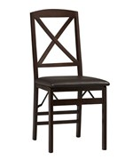 Set of Two Triena X Back Folding Chairs by Linon