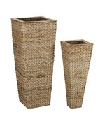 Set of Two Vases - Banana Leaf (Nested) by Household Essentials