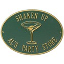 Hawthorne Personalized Martini Plaque