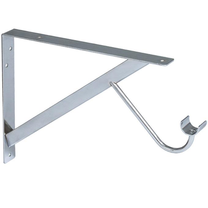 shelf and rod support bracket in closet rods and brackets. Black Bedroom Furniture Sets. Home Design Ideas