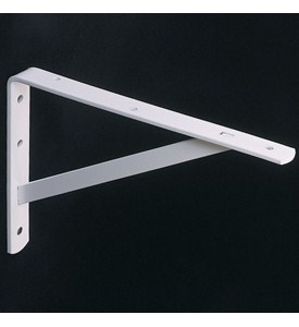 12 Inch Heavy Duty Shelf Bracket - White Image