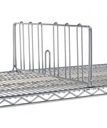 Chrome Intermetro Shelf Divider 18 Inch