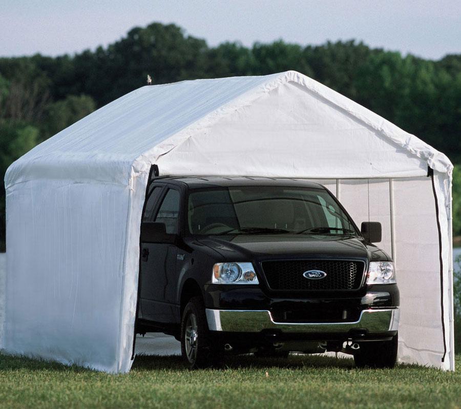 Enclosed Carport Kits : Shelterlogic enclosed carport in carports