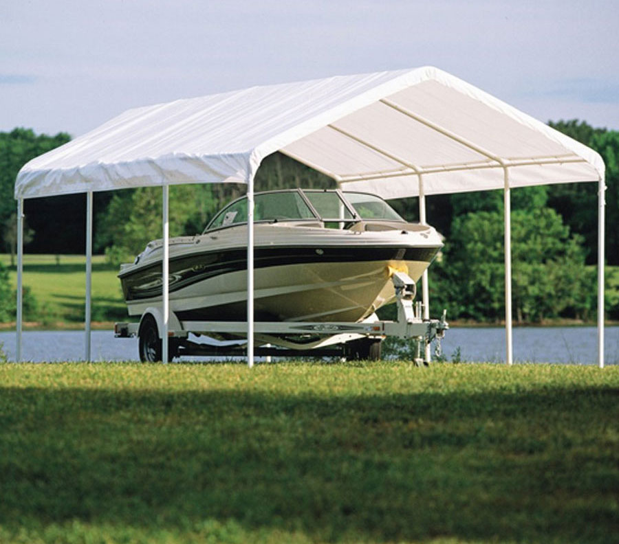 ShelterLogic 12 x 20 Boat Storage Canopy Image & ShelterLogic 12 x 20 Boat Storage Canopy in Canopies