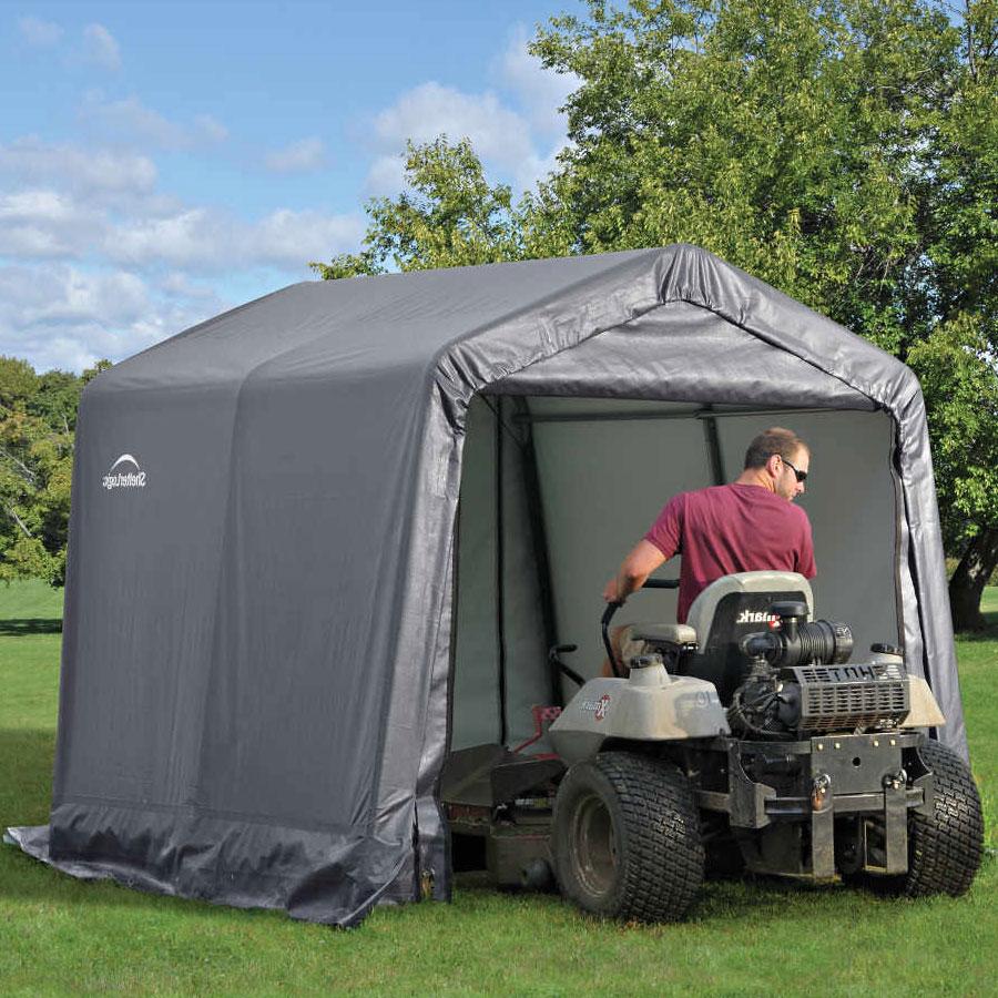 Lawn Mower Shelter : Shelterlogic x backyard shed in storage sheds