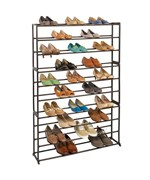 can brown cover inch rack with bz organizer standing shoes racks storage more dustproof closet shoe free put cym tiers oz cabinet