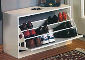 Tilt Out Shoe Cabinet In Shoe Racks