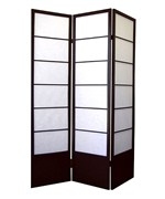 Shogun 3-Panel Room Divider - Espresso