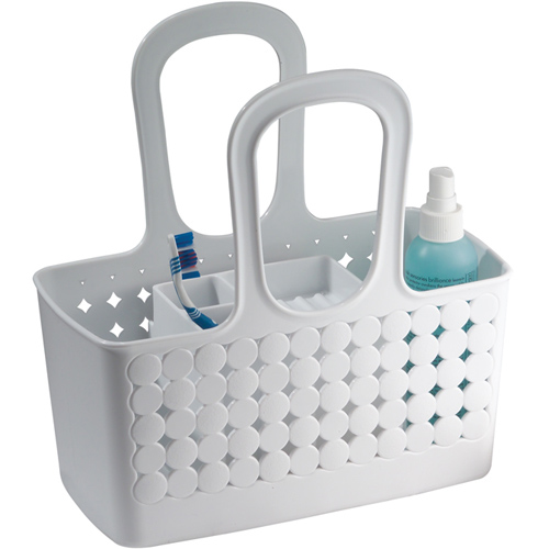 Bathroom shower baskets in shower baskets for Bathroom accessories baskets