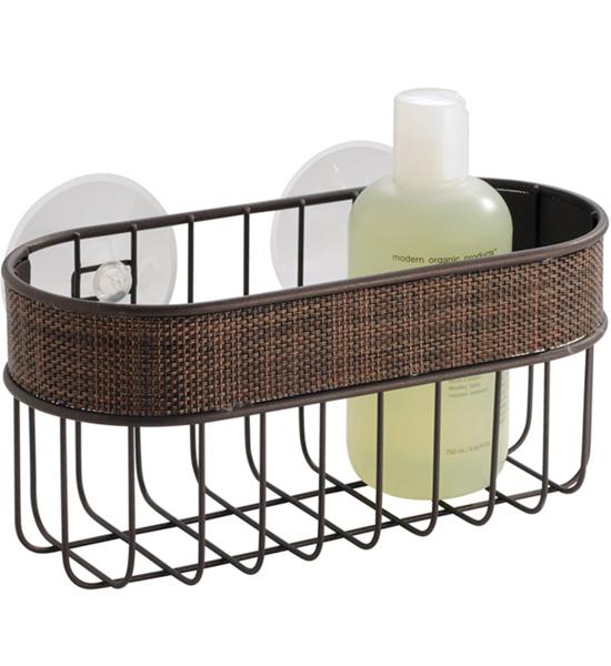Shower Caddy Basket - Bronze in Suction Organizers