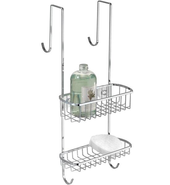 stainless steel shower door organizer image