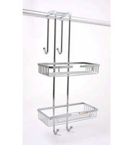 Chrome Over The Door Shower Caddy Image