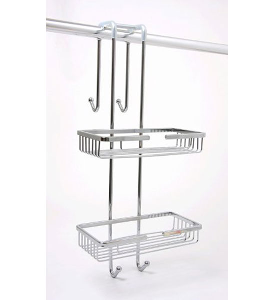 Great Chrome Over The Door Shower Caddy