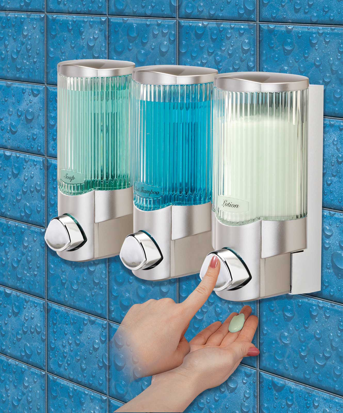 signature shower dispenser iii by better living products in