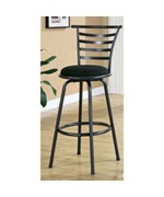 SILVER GREY METAL 43 Inch H SWIVEL BARSTOOL/ 2PCS BY MONARCH SPECIALTIES