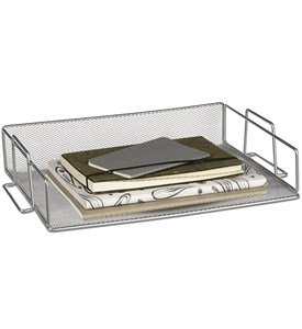 Silver Mesh Stackable Paper Tray Image