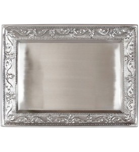 Silver Serving Tray - Antique Embossed Image