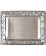 Silver Serving Tray - Antique Embossed