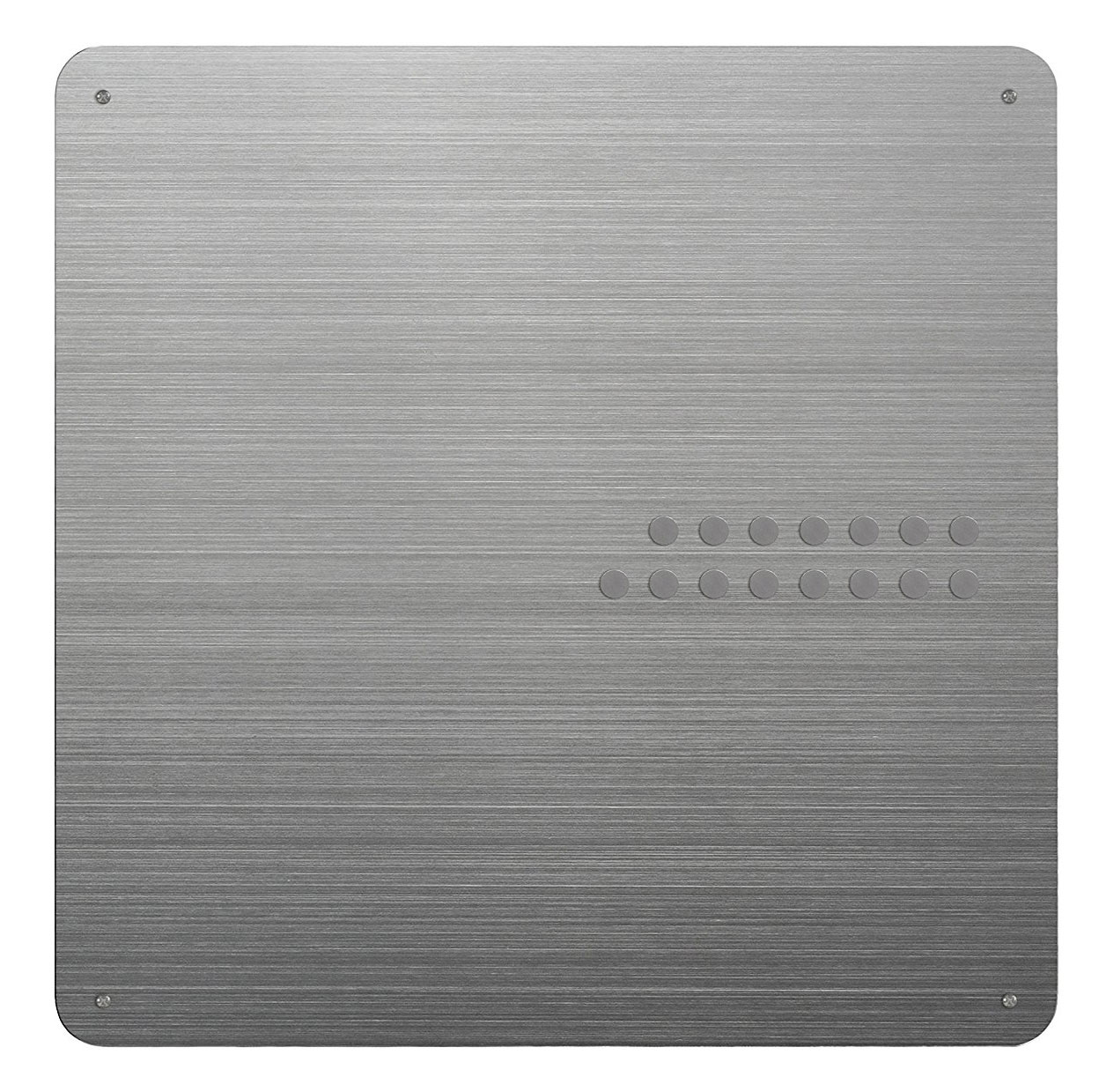 Silver Stainless Steel Magnetic Bulletin Board In Memo And
