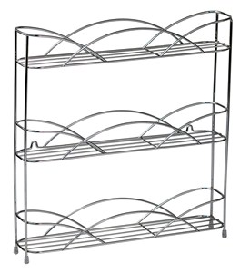 Silver Wire Wall-Mount Spice Rack Image