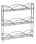 Silver Wire Wall-Mount Spice Rack