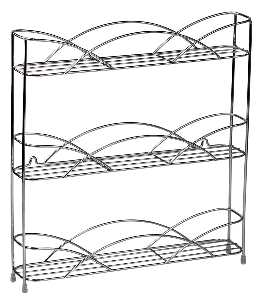 Silver Wire Wall Mount Spice Rack