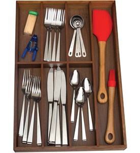 Silverware Drawer Organizer - Seven Sections Image