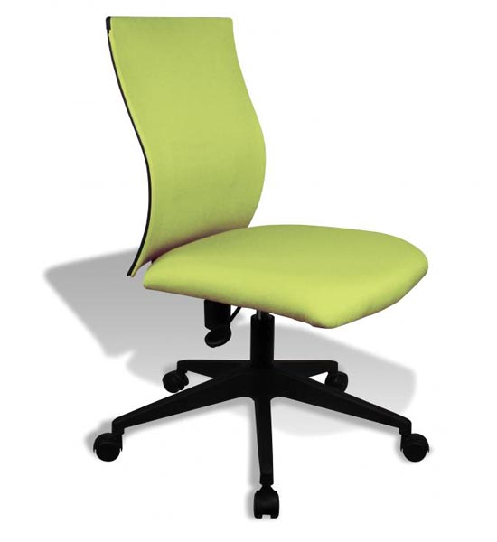 Simple Ergo Curve Office Chair - No Armrests in Armless ...
