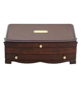 Single Drawer Mahogany Jewelry Chest Image