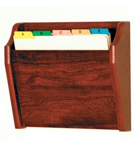 Wall File Holder - Oak Image