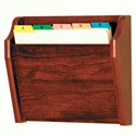 Wall File Holder - Oak
