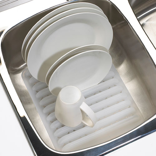 In Sink Plastic Dish Rack White In Dish Racks