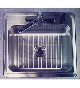 White Wire Sink Grid In Sink Mats