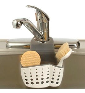 Adjustable Dish Brush and Sponge Holder Image