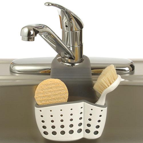 ... Adjustable Dish Brush And Sponge Holder. Kitchen Sink Organizer