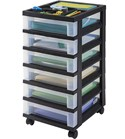 Six Drawer Office Storage Chest - Black