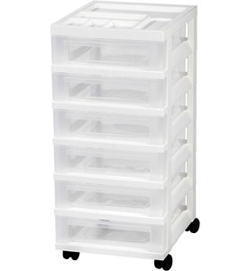 Six Drawer Office Storage Chest - White Image
