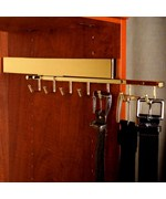 Deluxe Sliding Belt Rack - Polished Brass