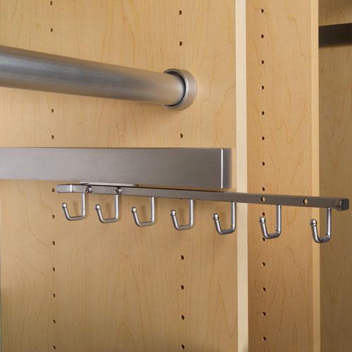Deluxe Sliding Belt Rack Chrome In Tie And Belt Racks