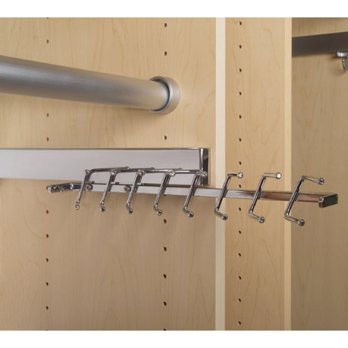 ... Deluxe Sliding Tie Rack   Chrome ...