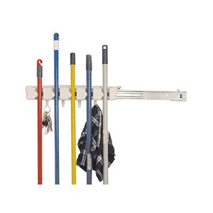 Slide-Out Mop and Broom Holder Image