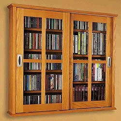 Hanging Multimedia Cabinet - Mission Style Image