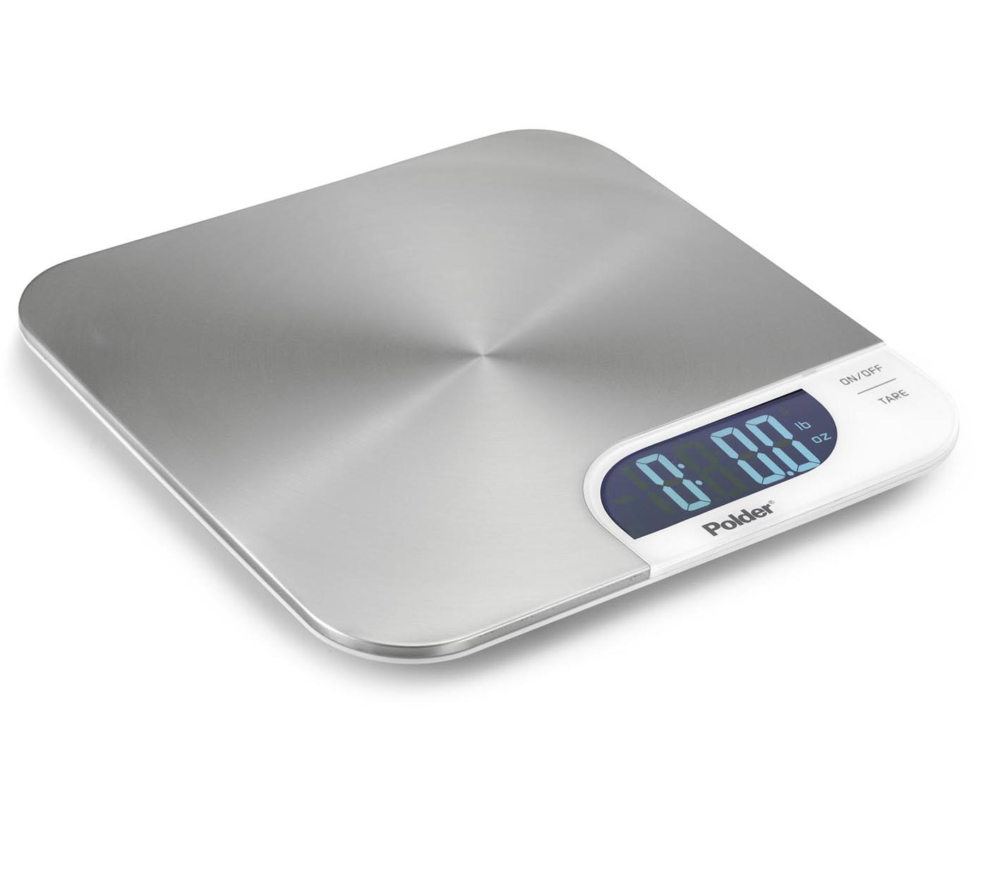Polder Kitchen Scale: Slimmer Stainless Scale By Polder In Kitchen Scales